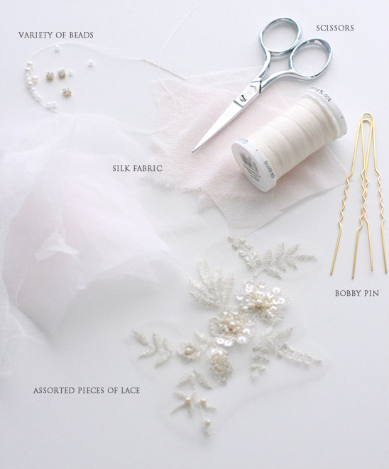 DIY Wedding Accessories | Silk And Lace Blossom Pin Tutorial