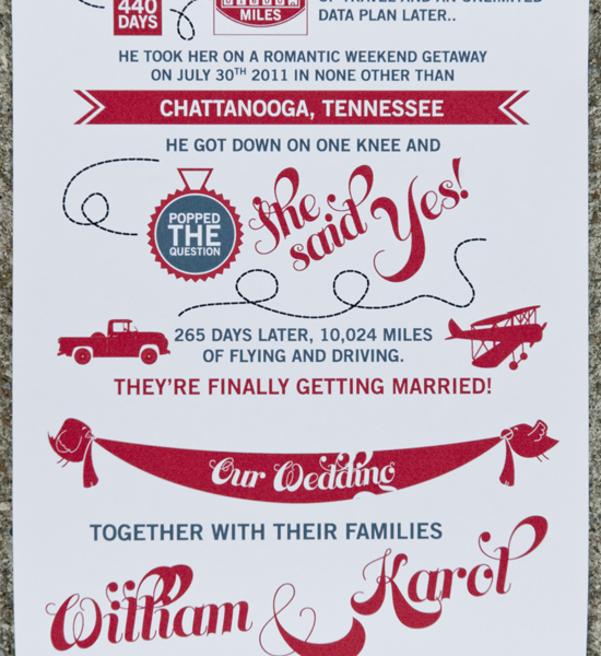 Love Story Wedding Invitation Discount
