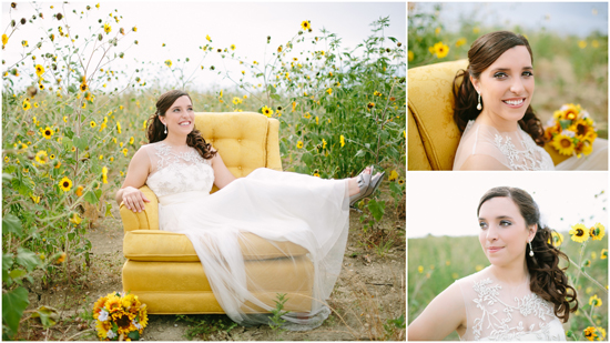 Sunflower Bridal Portraits | The Bird & The Bear
