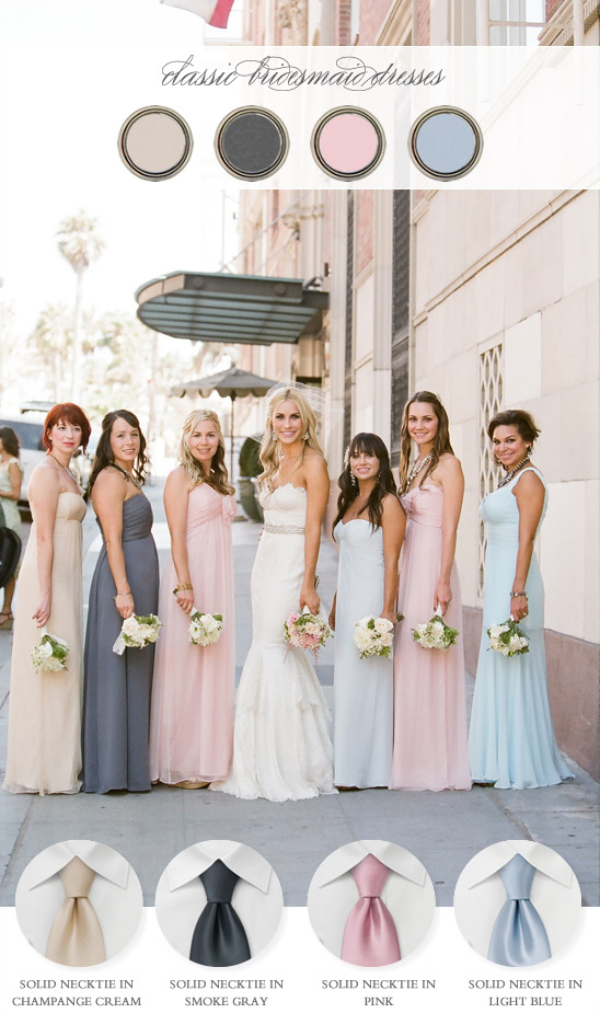 Coordinating The Bridesmaids and Groomsmen From Bows-N-Ties.com