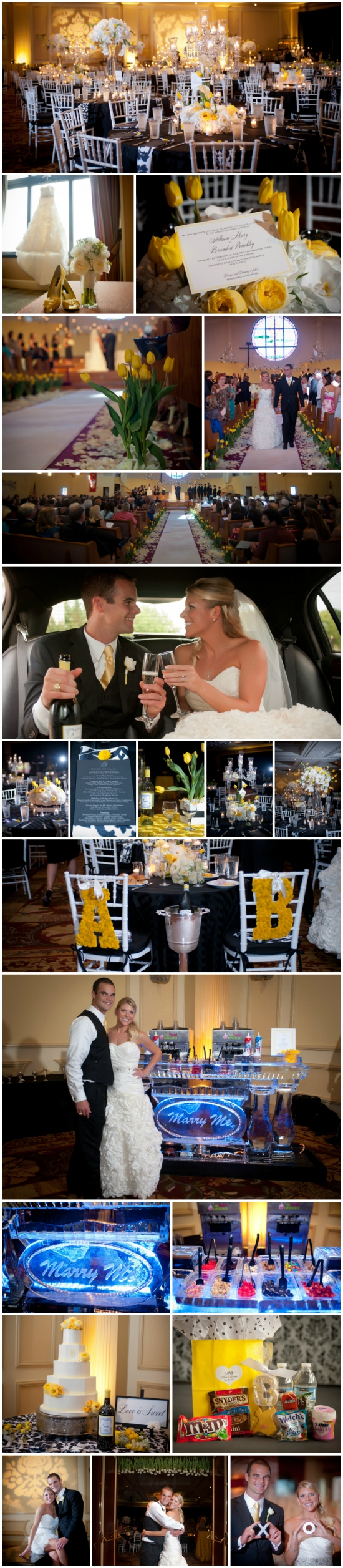 Alli + Brandon's Yellow Real Wedding with FroYo ice bar by Your Very Own Fairy Godmother in Austin, TX