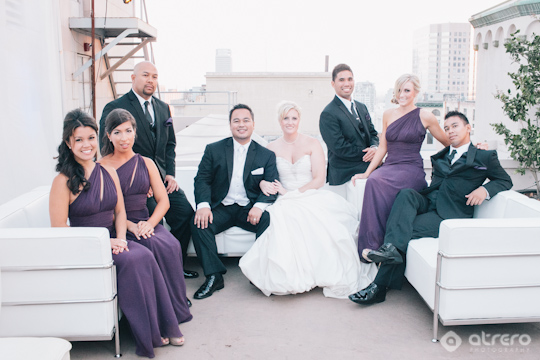 Downtown Los Angeles Rooftop Wedding