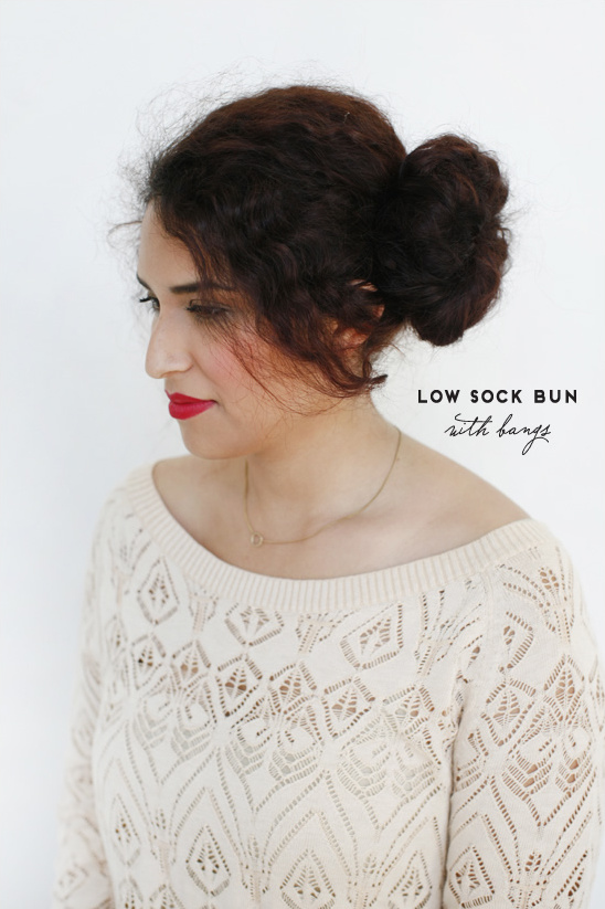 Put Your Hair In A Big Bun Using The Soxy