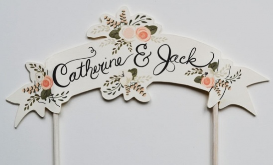 Custom Hand Painted Cake Toppers