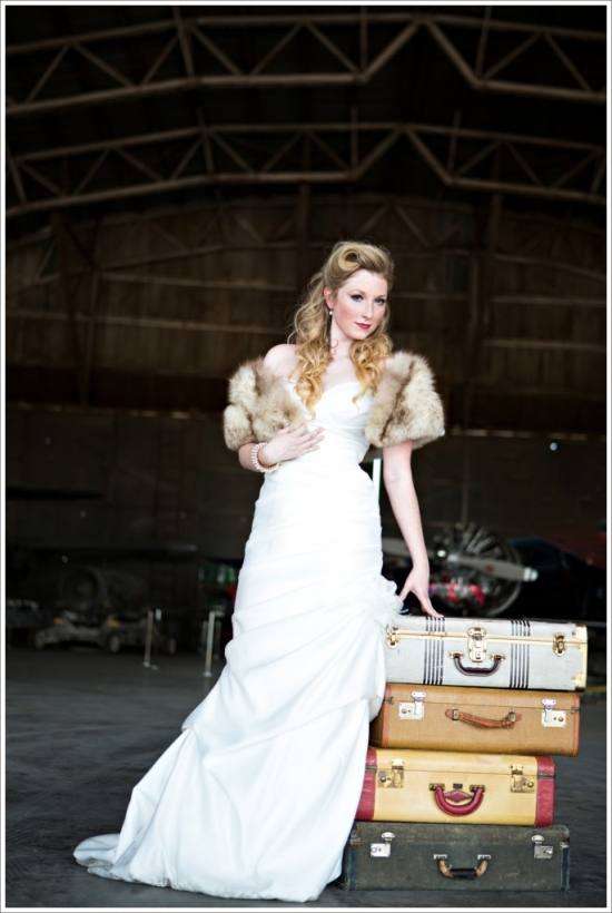 Vintage Flying Museum Bridal 1