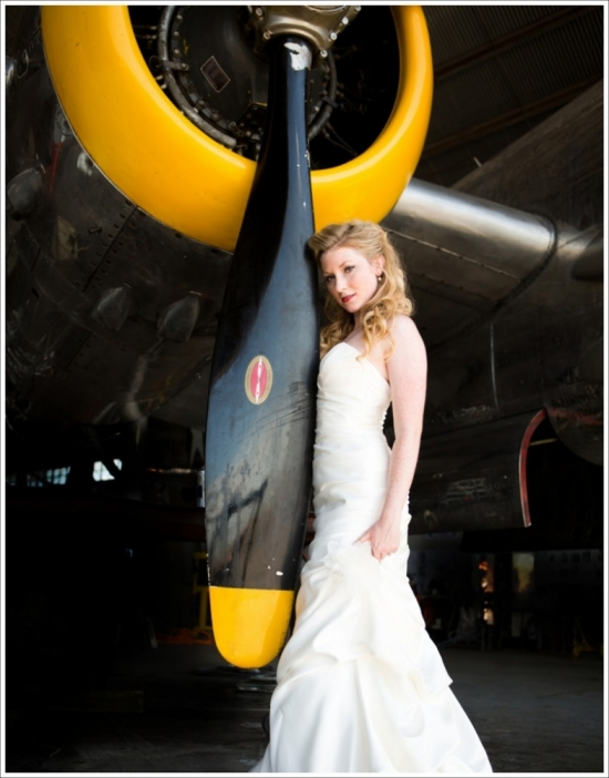 Vintage Flying Museum Bridal 2