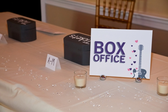 ROCK AND ROLL WEDDING | RECEPTION SIGNS BY SPARKVITES