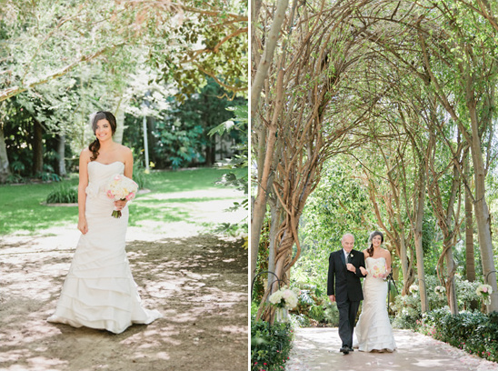 Pink And Gray Garden Wedding