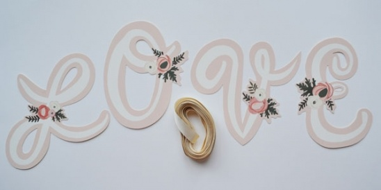 Custom Letter Wedding Banners