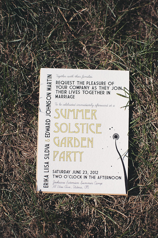Summer Solstice Garden Party Wedding
