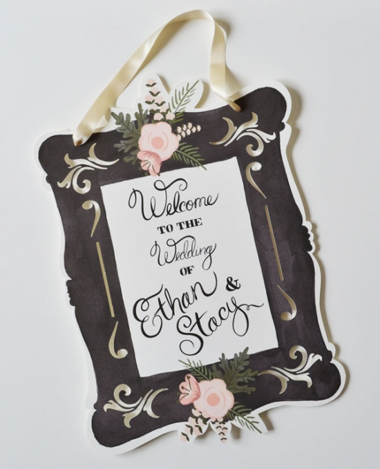 Hand Painted Welcome Wedding Signs