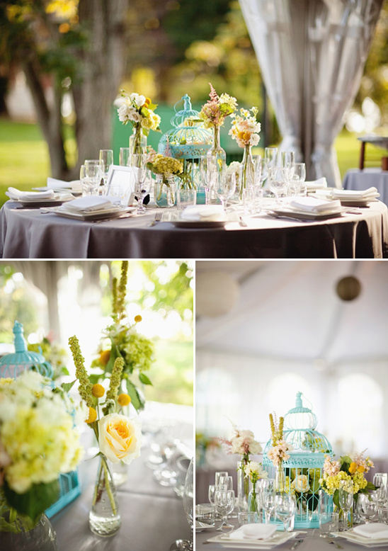 Teal Yellow And Gray Vintage Wedding Ideas