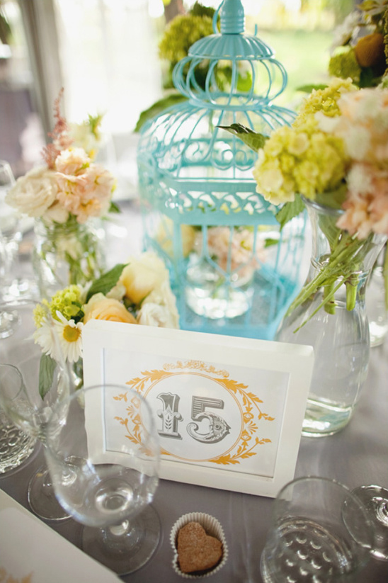 Teal yellow and gray vintage wedding ideas junglespirit Images