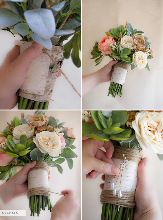 To make a fake flower bridal bouquet how to make a fake flower bridal bouquet mightylinksfo Images