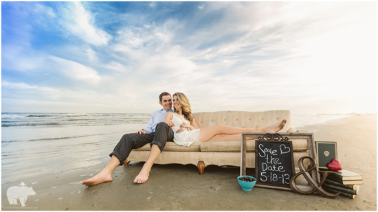 Galveston Beach Engagement Session | The Bird & The Bear