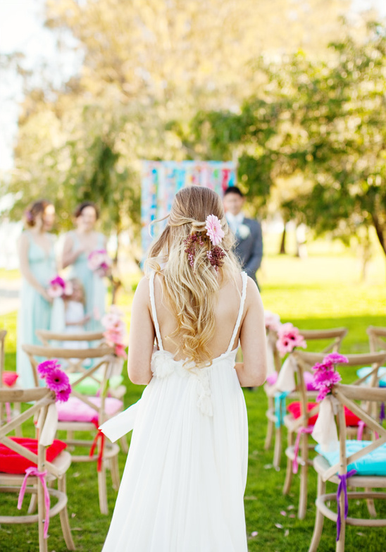 Simple and colorful garden wedding ideas workwithnaturefo