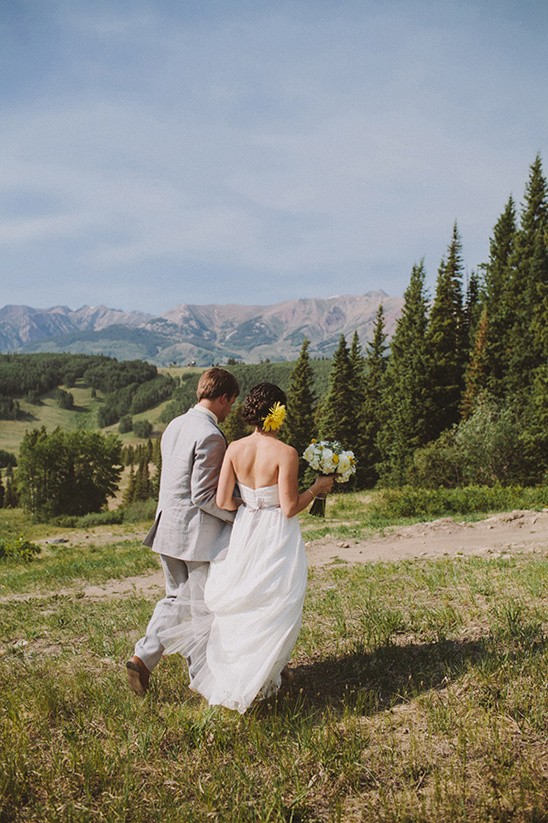 Crested Butte Yellow And Gray Wedding