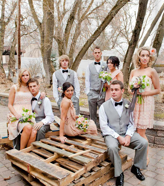 Vintage garden peach wedding ideas junglespirit Images