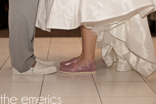 bride and groom TOMS
