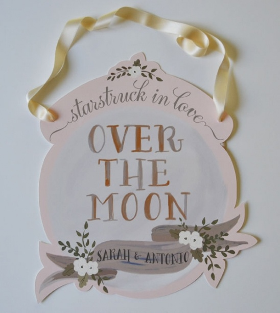 Over the Moon and Starstruck in Love Wedding Signs!