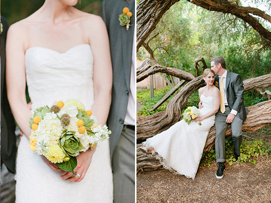 Gray, Green And Yellow Wedding