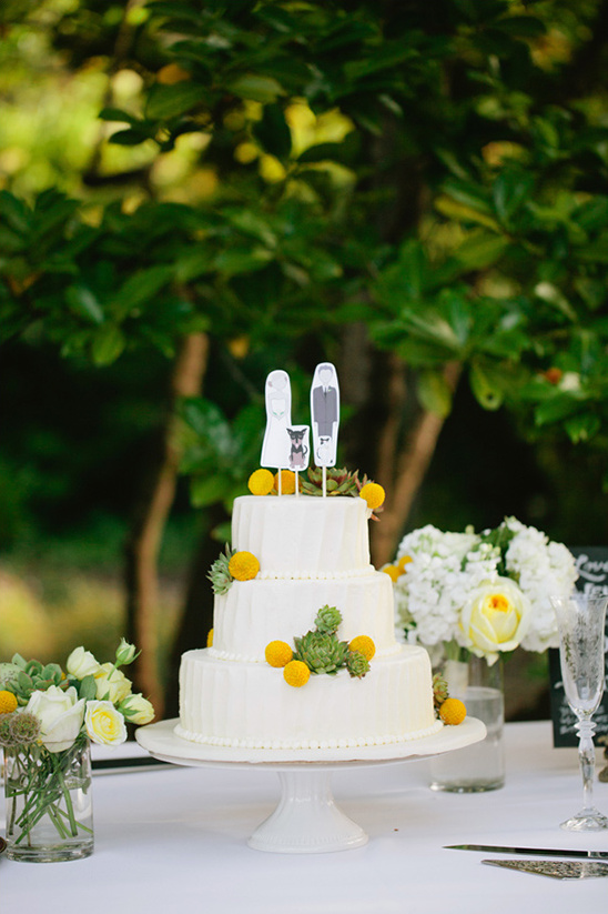 Gray Green And Yellow Wedding