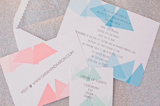 DIY Fun Triangle Wedding Ideas