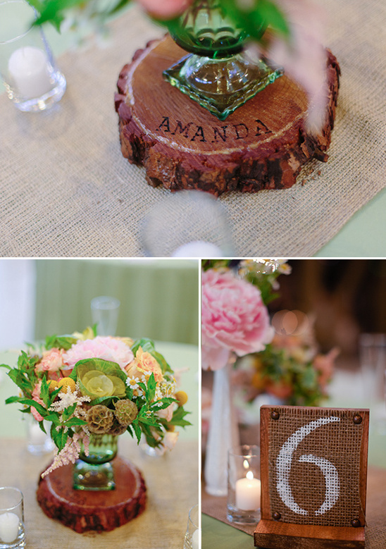 DIY Peach And Green Country Wedding