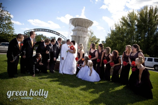 Bridal Party Photos George George Park Macomb Michigan