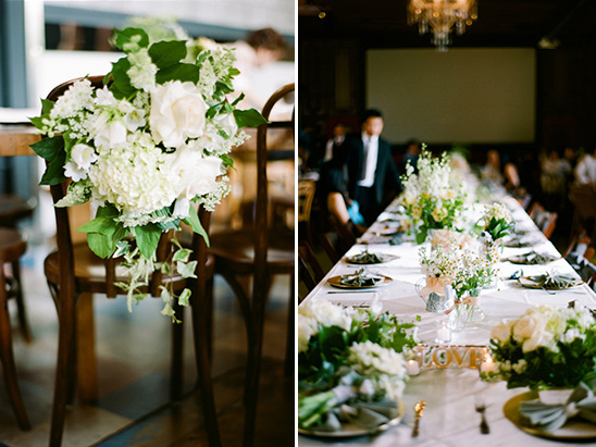 Classic White Wedding With Mint Accents