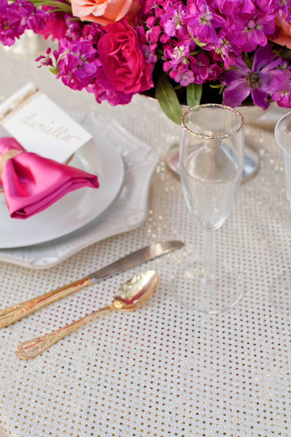 Gallery Vibrant Pink And Gold Wedding Ideas