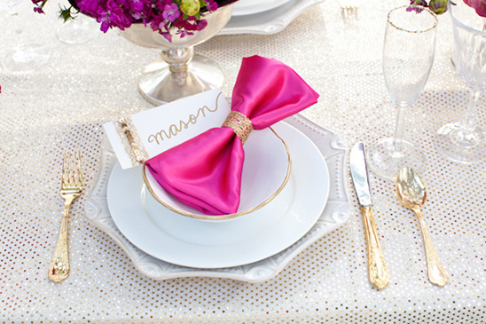 Vibrant Pink and Gold Wedding Ideas