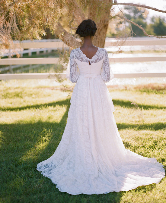 Gaby J Photography romantic vintage bride Las Vegas wedding