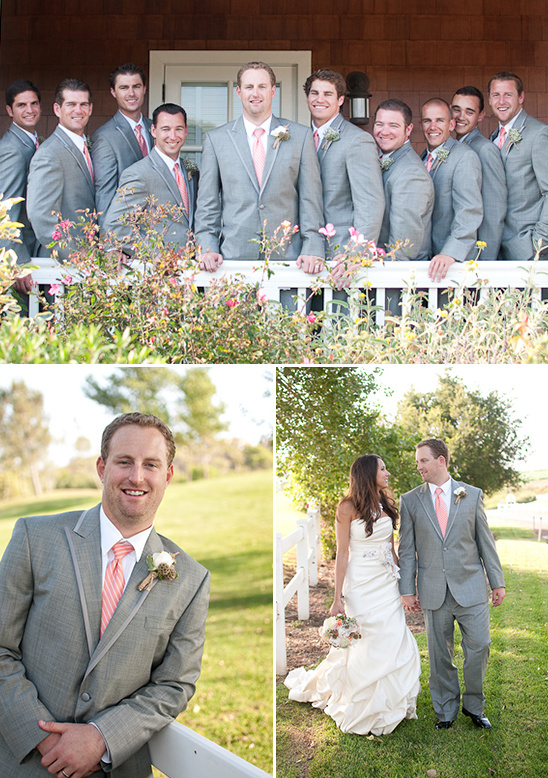 Peach, Gray and White Wedding Ideas