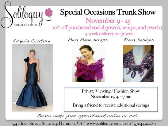Trunk Show - Soliloquy Bridal Couture