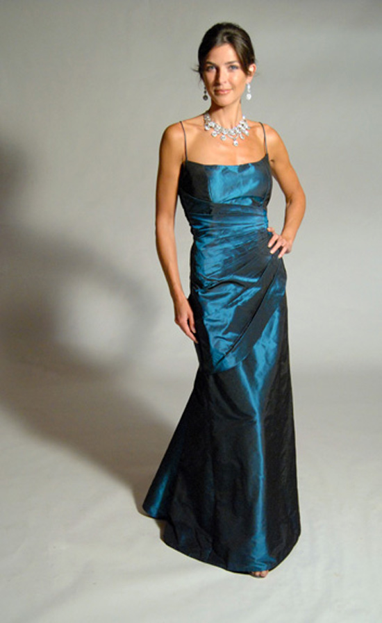 Aqua Gown - Eugenia Couture