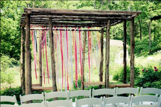 Rustic Ribbon Ceremony Backdrop