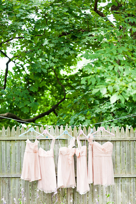 Pink And White Garden Wedding