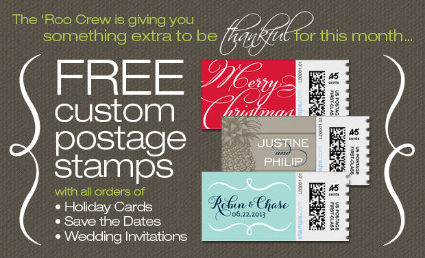 Free Custom Postage Stamps from The Green Kangaroo