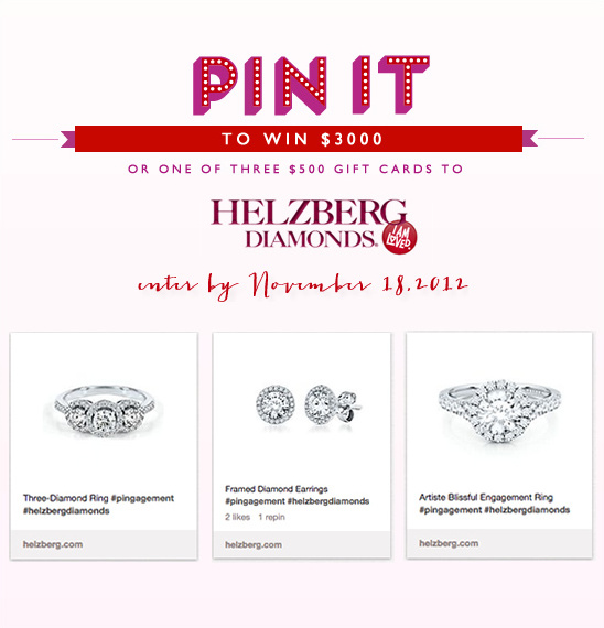 Helzberg Diamonds' PINgagement Giveaway