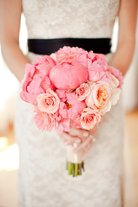 Black And Pink Malibu Wedding