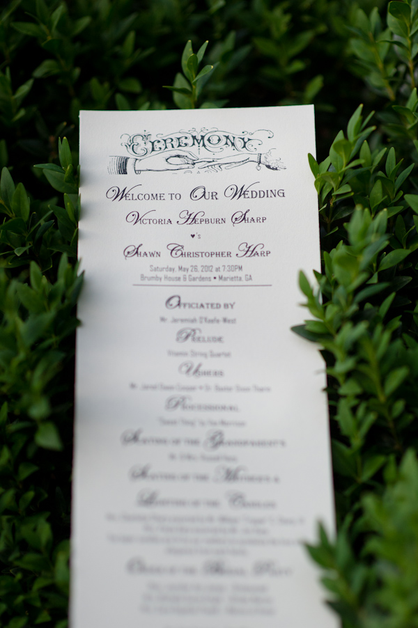 Garden Party Wedding Program