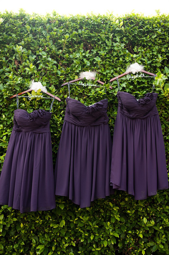 Rustic Purple And Gray Wedding