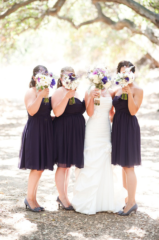Handmade Rustic Purple And Gray Wedding