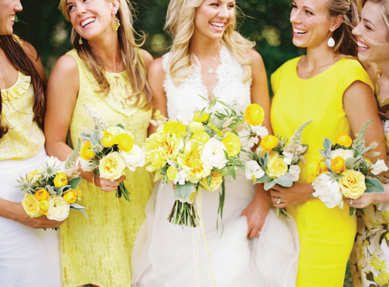 Bright Coloured Bridesmaid Dresses: Biggest Wedding Issue From Southern Weddings Magazine