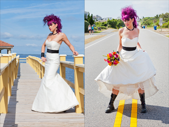 Alternative Bride's Wedding Portraits