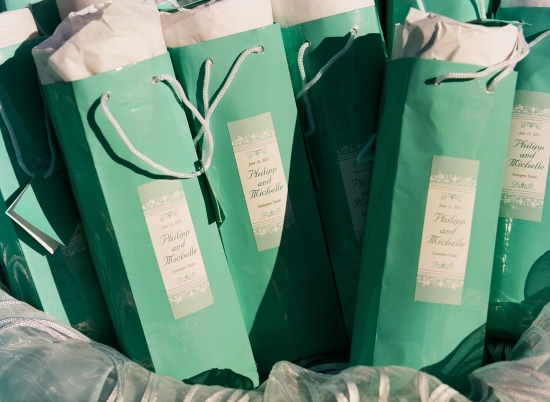 Elegant Tiffany-style Wedding Invitations and Favors