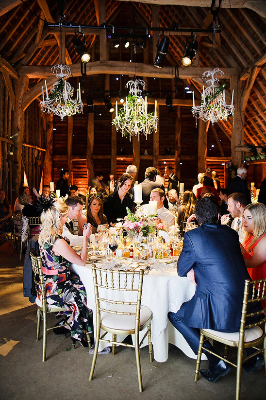 Glamorous Uk Barn Wedding