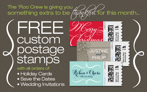 Hurry! One Week Left to Receive FREE Custom Postage Stamps from TGK