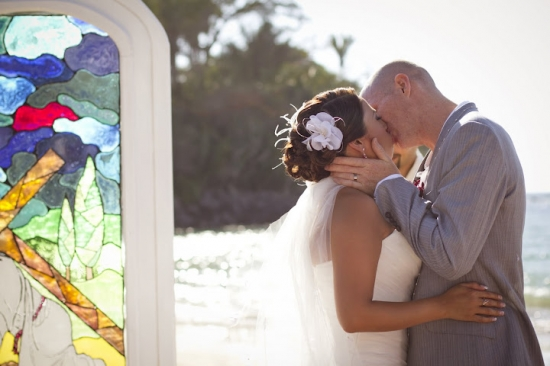 Stained Glass Beach Wedding & Reception in Chacala, Mexico